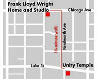 Home and Studio and Unity Temple Map