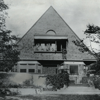 Frank Lloyd Wright Home, Oak Park IL, ca.1890, collection of the Frank Lloyd Wright Preservation Trust