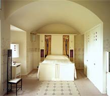 Master Bedroom, Hill House, Helensburgh, UK, Charles Rennie Mackintosh Courtesy of the National Trust for Scotland