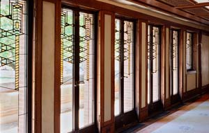 Leaded Glass doors, Robie House, photography by Tim Long