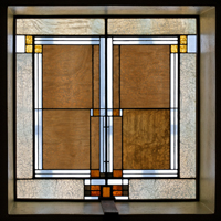 Skylight panel, detail, Unity Temple, Photograph by James Caulfield