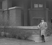 Frank Lloyd Wright at the Robie House, 1957, Collection of the Frank Lloyd Wright Preservation Trust