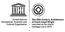 The 20th Century Architecture of Frank Lloyd Wright inscribed on the World Heritage List in 2019